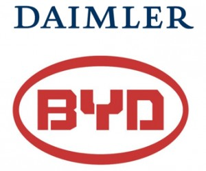 Daimler and BYD logos