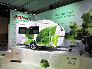 German RV maker builds electric camping trailer