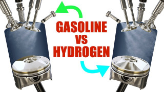 Difference between gasoline and hydrogen combustion engines