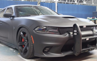 Armormax armored Dodge Charger Hellcat police vehicle