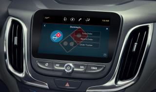 Domino's in-car pizza ordering app