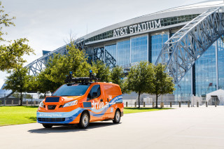Drive.AI self-driving car in Arlington, Texas