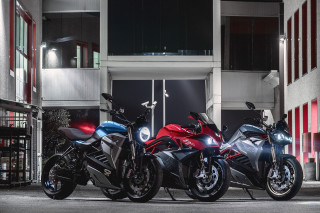 Energica electric-motorcycle models [photo: Luciano Consolini]