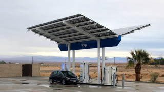 EVgo 350-kw DC fast-charge station, Baker, Calif.
