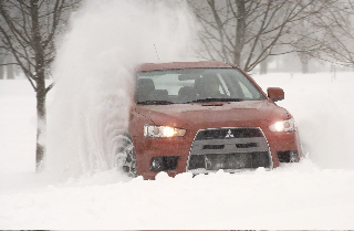 Evo MR in the snow