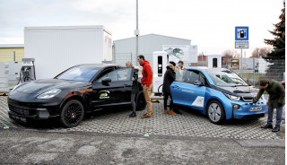BMW and Porsche demo 450-kw charger capable of adding 62 miles in 3 minutes