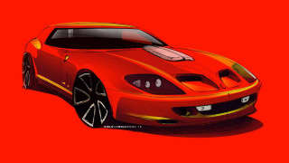 Niels van Roij Design Ferrari 550 Maranello-based Breadvan homage model