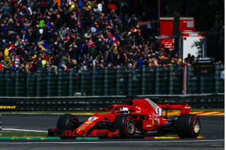 Ferrari's Sebastian Vettel at the 2018 Formula 1 Belgian Grand Prix