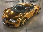 Flo Rida's gold chrome Bugatti Veyron - image: Wrapped World