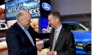 Ford CEO Jim Hackett and Volkswagen Group CEO Herbert Diess