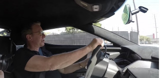 Tim Allen driving his Ford GT