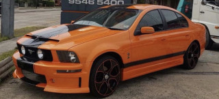 Someone built a Mustang sedan using an Aussie Ford Falcon