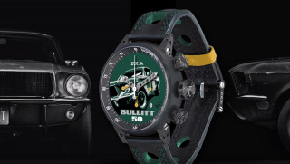 Bullitt Ford Mustang watch made with original car's paint