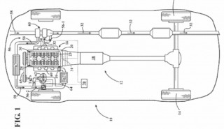 GM patent for twin-charged high-compression hybrid powertrain