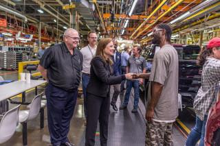 GM's Mary Barra visits Ft. Wayne