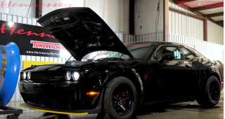 Hennessey's Dodge Challenger SRT Demon makes 1,013 HP...at the wheels