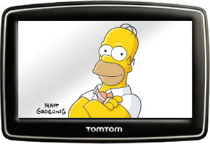 Cartoons Cars Homer Simpson Joins The Cast Of Tomtom
