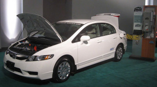 Honda Civic GX and Phill natural-gas home filling unit
