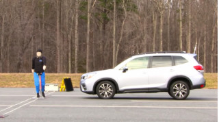 IIHS automatic emergency braking for pedestrian protection test