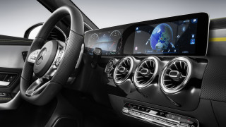 Interior design of next-generation Mercedes-Benz compact cars