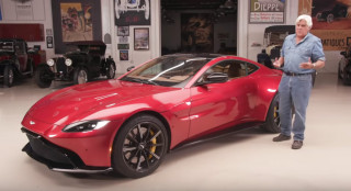 Jay Leno and the 2019 Aston Martin Vantage