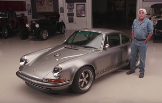 Jay Leno drives Singer's 100th re-imagined Porsche 911