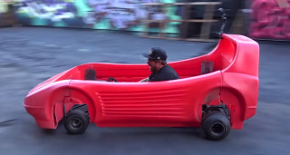 Kart-powered race car bed