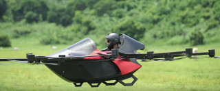 Philippine inventor demonstrates drone that can carry a person