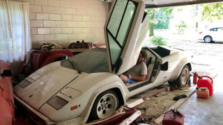 Grandma's 1981 Lamborghini Countach is still cool even covered in dust