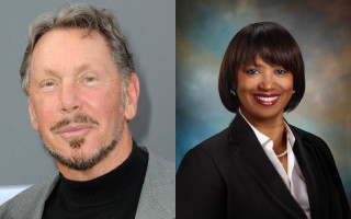 Larry Ellison and Kathleen Wilson-Thompson  -  Tesla board