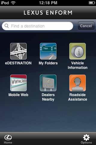 Lexus Enform Mobile App