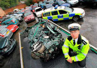 Manchester cops crush over 10,000 cars