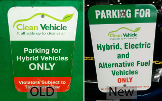 Massachusetts updates green-car parking signs at Logan Airport [CREDIT: JOHN BRIGGS]