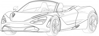 McLaren 720S Spider patent drawings