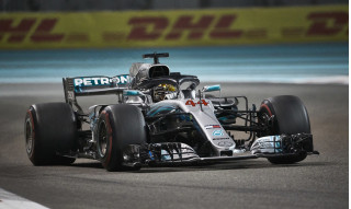 Mercedes-AMG's Lewis Hamilton at the 2018 Formula 1 Abu Dhabi Grand Prix