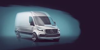 Next-generation Mercedes-Benz Sprinter teaser image