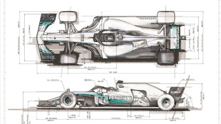 2019 Mercedes-AMG F1 car sketches
