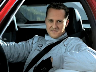 Michael Schumacher from the Mercedes-Benz SLS AMG 'tunnel' commercial