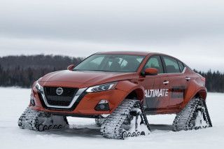 Nissan Altima-te AWD sedan with tracks