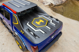 Nissan Frontier pickup made mission-ready with two Leaf battery packs