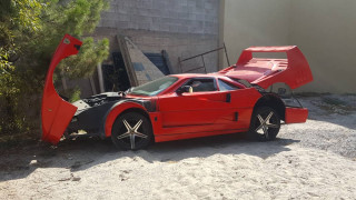 Behold the horror of this Nissan Sentra-based Ferrari F40 replica