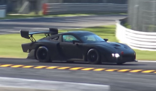 Porsche 935 customer race car tests at Monza circuit