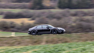 Production-bound Porsche Taycan electric car spotted cold-weather testing