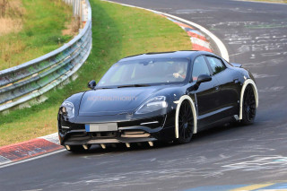 2020 Porsche 'Mission E' electric sedan spy shots