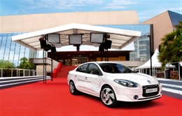 For most Hollywood A-List celebrities the choice of how to arrive at premieres and film festivals has been almost as big a decision as what to wear.    Now Hollywood A-list celebrities have one less thing to worry about courtesy of French automaker Renault, which is providing ten of its all-electric 2011 Fluence Z.E. Sedans to transport actors and film directors to the red carpet at the 2011 Cannes Film Festival.   Of course, this isn't the first time electric cars and Hollywood has been the best of friends.  Back in the heyday of the original Toyota RAV4 EV and GM EV1, A-listers like perennial 'good guy' Tom Hanks and controversial Mell Gibson even chose to add all-electric cars to their personal fleets.   In fact, Hanks became such a supporter of electric vehicles that he purchased AC Propulsions' first ever eBox, a converted Scion SB.   During the mid to late noughties when production electric cars were scarce the red-carpet celebrity car of choice was the venerable Toyota Prius or any other car sporting that magic eco-friendly hybrid decal.    Earlier this year, our own John Voelcker pondered if the 2011 Volt would supersede non plug-in hybrids as the red-carpet transport of choice. But it turns out Hollywood may be skipping the Volt altogether and picking something 100% electric instead.  But then again, if we're counting red-carpet appearances by electric car we have to offer a tip of our hats to the recent Tribeca  Film Festival in New York, where the premiere of Chris Paine's new film Revenge of the Electric Car was held.    By all accounts, it certainly met the required electric car red-carpet appearances. We wonder if Cannes, which is taking place over the next ten days, will do any better.   [Renault]