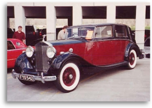 """Owning and enjoying great classic cars like this Rolls-Royce seems to be a way of life at """"DChrysler."""""""