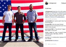 Rutledge Wood Instagram post