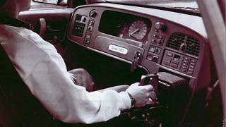 Saab 9000 with joystick driver control Photo: Goodwood