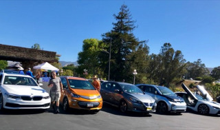 San Luis Obispo, CA National Drive Electric Week 2018 [Credit Justin Bradshaw SLO Climate Coalition]
