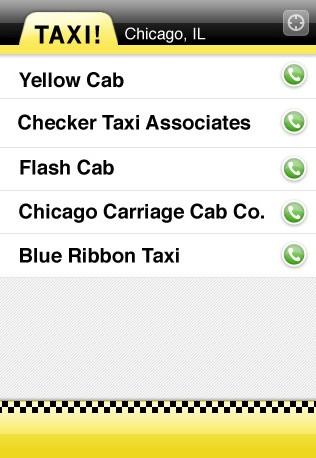 Taxi iPhone app